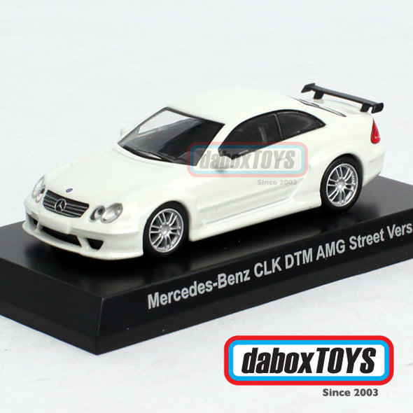 Kyosho 1/64 Mercedes Benz CLK DTM AMG Street Version White