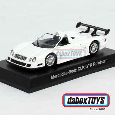 Kyosho 1/64 Mercedes Benz CLK GTR Roadster White