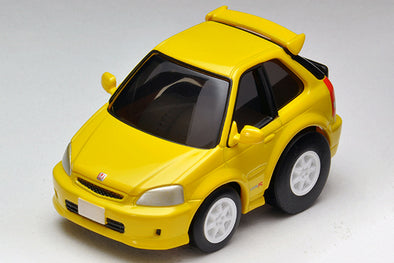 Tomica Chor Q Zero Honda Civic Type-R EK9 - Yellow #Z-62b