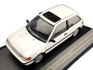 First43 1/43 1987 Honda Civic, White - F43-041
