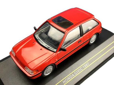 First43 1/43 1987 Honda Civic, Red - F43-042
