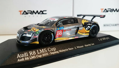 Tarmac Works x Minichamps 1/43 Audi R8 LMS Cup - 2015 Sepang Rd 2 Winner - Marchy Lee 李英健
