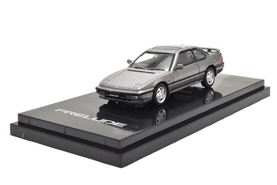 Hobby Japan 1/64 Honda Prelude BA5 1989 Pewter Gray Metallic - HJ641002AGM