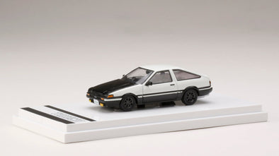 Hobby Japan 1/64 Toyota SPRINTER TRUENO GT APEX (AE86) Customized Version / Carbon Bonnet High Tech Two Tone - HJ641008CWK