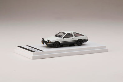 Hobby Japan 1/64 Toyota SPRINTER TRUENO GT APEX (AE86) Open Retractable Headlights High Tech Two Tone - HJ641008LWK