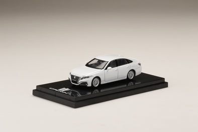 Hobby Japan 1/64 Toyota CROWN 2.5L RS advance CUSTOMIZED VERSION White - HJ641009CW