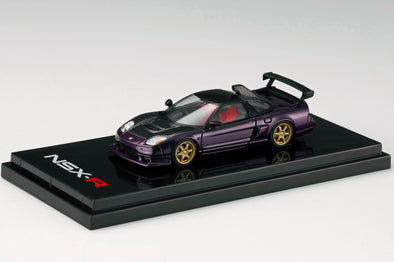 Hobby Japan 1/64 Honda NSX-R GT (NA2) GT-Wing / Customized Ver. Purple Metallic