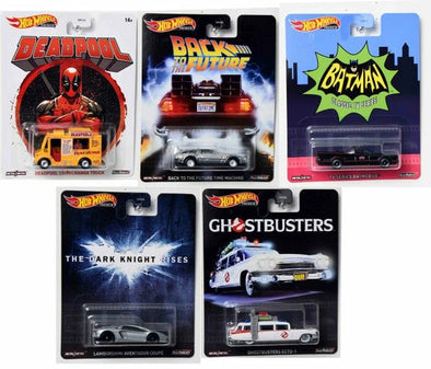 Hot Wheels Premium Retro Entertainment (5 cars set)