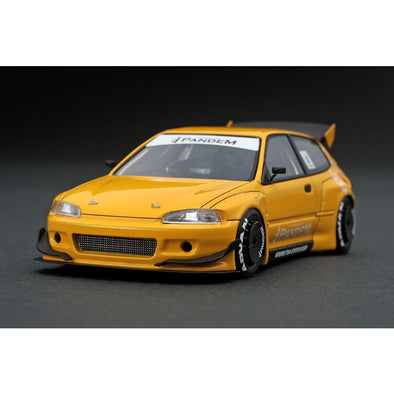 Ignition Models 1/43 PANDEM CIVIC (EG6) Yellow  - IG1175