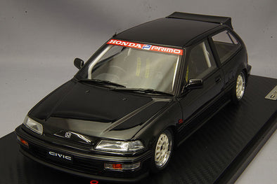 Ignition Models 1/18 Honda CIVIC (EF9) SiR Black Estimatedly limited to: 120pcs ※Weds Type-Wheel  #IG1290