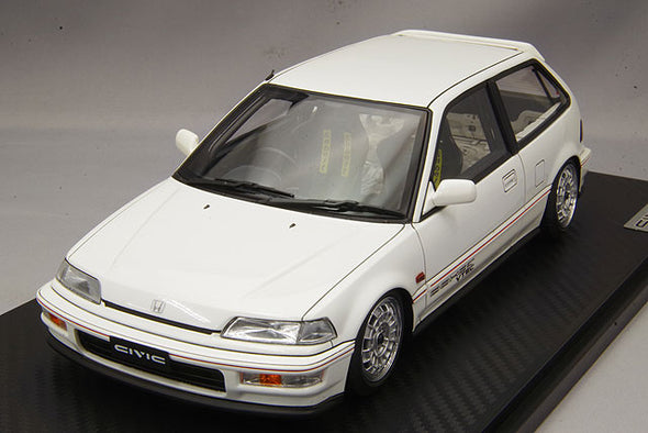 Ignition Models 1/18 Honda CIVIC (EF9) SiR White Estimatedly limited to: 120pcs ※Mugen Type-Wheel  #IG1291