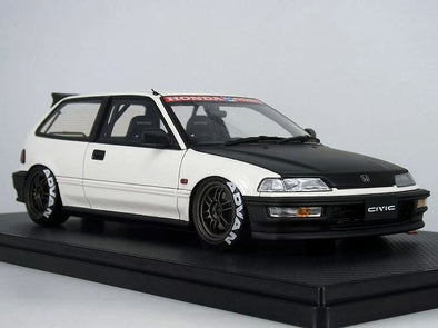 Ignition Models 1/18 Honda CIVIC (EF9) SiR White / Black #IG1294