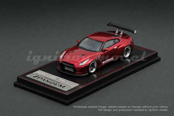 Ignition Models 1/64 PANDEM R35 GT-R Red Metallic TE37 - IG1399