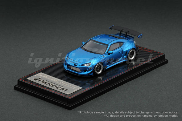 *FOR OVERSEAS CUSTOMER ONLY (Not Avalible For HK & Macau)* *Limit to 1 unit per person/address*  Ignition Models 1/64 PANDEM TOYOTA 86 V3 Blue Metallic Rocket Bunny 6666 17 inch wheel (Black) - IG1403