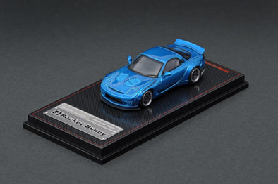 Ignition Models 1/64 Rocket Bunny RX-7 (FD3S) Blue Metallic *TARMAC WORKS EXCLUSIVE EDITION * - IG1408