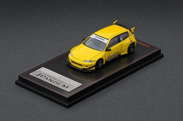 Ignition Models 1/64 PANDEM CIVIC (EG6) Yellow - IG1416  *Tarmac Works Exclusive Edition *