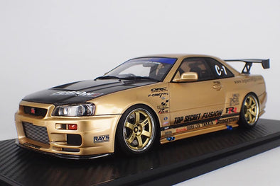 Ignition Models 1/18 TOP SECRET GT-R (BNR34) Gold #IG1476