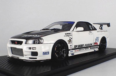 Ignition Models 1/18 TOP SECRET GT-R (BNR34) White #IG1477