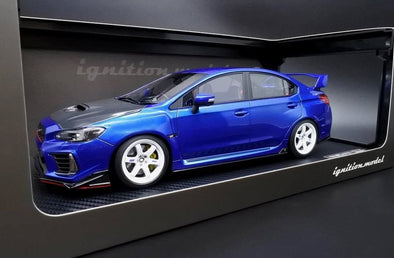 Ignition Models 1/18 SUBARU WRX (CBA-VAB) STI Blue Metallic with TE37 type18 inch wheel (White)  #IG1666
