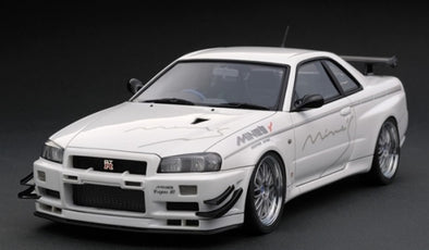 Ignition Models 1/43 Nissan Skyline GT-R Mine's (R34) White  - IG1811