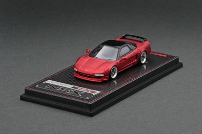 IGNITION MODELS 1/64 Honda NSX (NA1) Matte Red Metallic (2 tone), BBS #IG1938