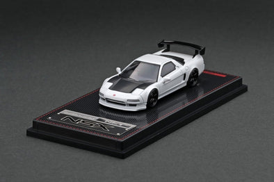 IGNITION MODELS 1/64 Honda NSX (NA1) Matte Pearl White TE37, Black, carbon bonnet, GT Wing - IG1939