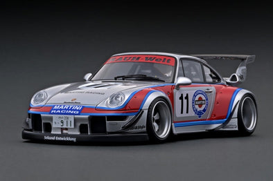 Ignition Models 1/43 RWB 993 Silver/Red Martini  - #IG2169