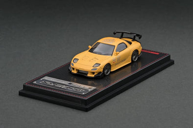 IGNITION MODELS 1/64 Mazda RX-7 (FD3S) RE Amemiya Matte Yellow - IG2062
