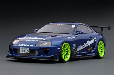 Ignition Models 1/18 Toyota Supra (JZA80) RZ ORIDO-STREET Ver. Blue  #IG1810