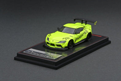 Ignition Models 1/64 Pandem Supra (A90) Yellow Green, GT Wing - IG2337