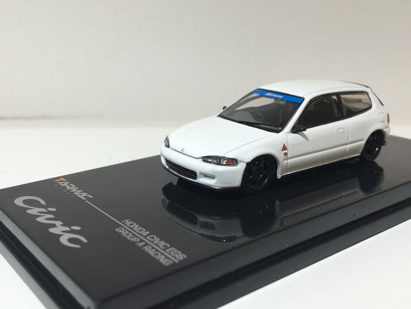 """LIMITED 2 PER PERSON"" - Tarmac Works Hobby64 Honda Civic EG6 Gr.A Racing Plain White - Wave 4 - T12-PW"