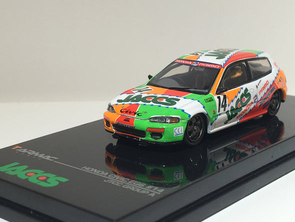 """LIMITED 2 PER PERSON"" Tarmac Works Hobby64 Honda Civic EG6 Gr.A Racing JACCS #14 - Wave 2 - T12-JA"