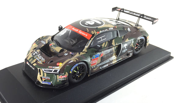 Tarmac Works x Minichamps 1/43 2016 Audi R8 LMS Cup - Taiwan Round AAPE by A Bathing Ape Green Camouflage