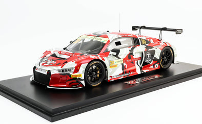 Tarmac Works 1/18 Audi R8 LMS 2015 FIA GT World Cup Macau AAPE by A Bathing Ape Marchy Lee - T18-004-MGP15ML