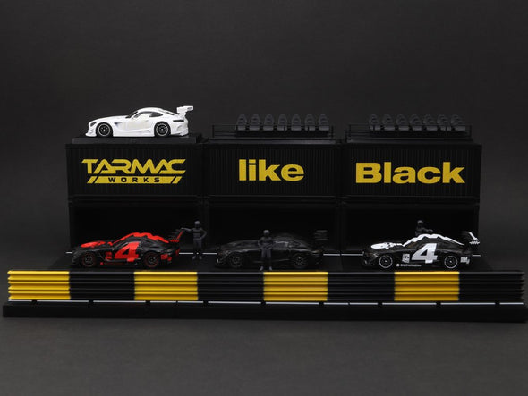 *Mercedes me like Black Special* Tarmac Works Hobby64 Mercedes-AMG GT3 4A Like Black #4 Boxset