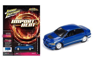 Johnny Lighting 1/64 STREET FREAKS MITSUBISHI LANCER IMPORT HEAT BLUE - JLCP7123