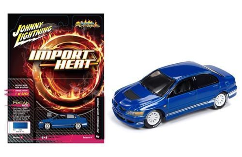 Johnny Lightning 1/64 STREET FREAKS MITSUBISHI LANCER IMPORT HEAT BLUE - JLCP7123