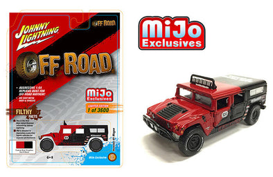 Johnny Lighting 1/64 Mijo HUMMER H1 WAGON BAJA PILOTS Red - JLCP7154
