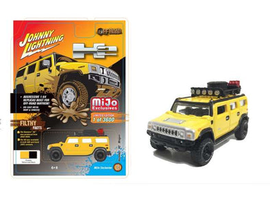 Johnny Lightning 1/64 Mijo Hummer H2 Wagon with Rack, yellow