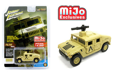 Johnny Lighting 1/64 Mijo Humvee Military Police LTD Sand - JLCP7158