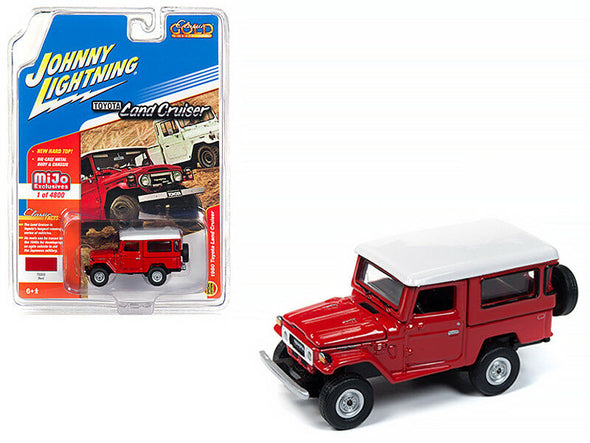 Johnny Lighting 1/64 Mijo Toyota Land Cruiser HT W/ Hard Top Red - JLCP7160