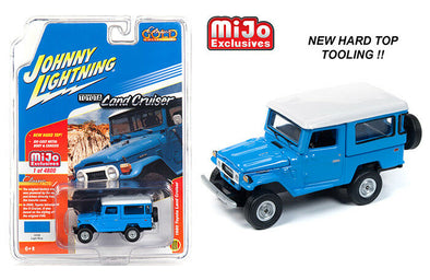Johnny Lighting 1/64 Mijo MiJo Toyota Land Cruiser HT W/ Hard Top Blue - JLCP7161
