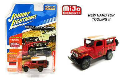 Johnny Lighting 1/64 Mijo Toyota Land Cruiser HT Rusted RED - JLCP7162