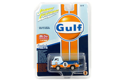 Johnny Lighting 1/64 Mijo DODGE A 100 PICKUP GULF RACING