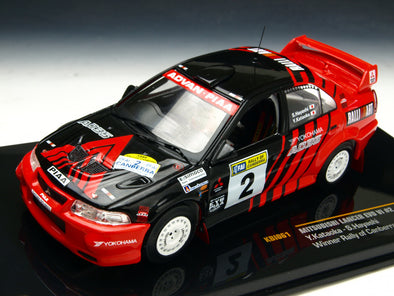 IXO Models 1/43 Mitsubishi Lancer Evolution VI No.2 Canberra rally championship car 1999 - KBI061