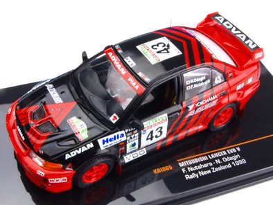 IXO Models 1/43 Mitsubishi Lancer Evo V Rally New Zealand 1999 #43 - KBI065