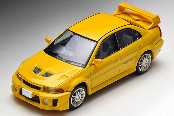 Tomica Limited Vintage Neo 1/64 Mitsubishi Lancer Evolution V GSR (Yellow) - LV-N187a