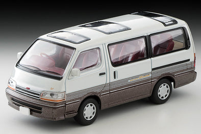 Tomica Limited Vintage Neo 1/64 Toyota HIACE Super Custom Limited White / Brown -  LV-N208a