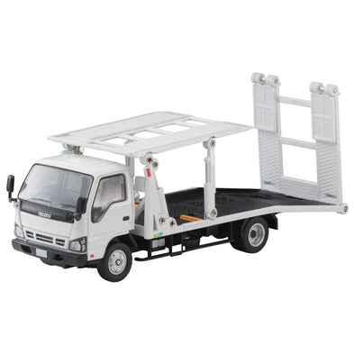 Tomica Limited Vintage Neo 1/64 Isuzu ELF Safety Loader Big Wide 花見台自動車 - White #LV-N191a