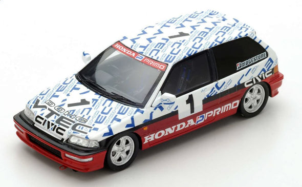 Spark 1/43 HONDA CIVIC EF9 NO.1 GROUP N SUZUKA CIRCUIT TEST 1990  AYRTON SENNA #S5460